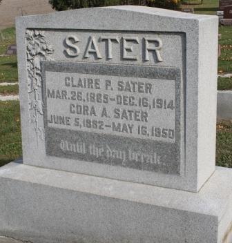 CARTER SATER, CORA ANNA - Des Moines County, Iowa | CORA ANNA CARTER SATER
