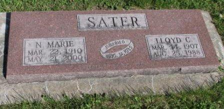 SATER, LLOYD CARTER - Des Moines County, Iowa | LLOYD CARTER SATER