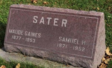 SATER, MAUDE - Des Moines County, Iowa | MAUDE SATER