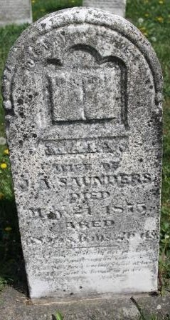 SAUNDERS, MARY - Des Moines County, Iowa | MARY SAUNDERS