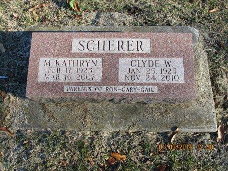 SCHERER, CLYDE WILLIAM - Des Moines County, Iowa   CLYDE WILLIAM SCHERER