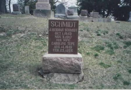 SCHMIDT, J. HERMAN AND CAROLINE - Des Moines County, Iowa | J. HERMAN AND CAROLINE SCHMIDT