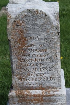 WILCOX SHANNON, EMMA R. - Des Moines County, Iowa | EMMA R. WILCOX SHANNON