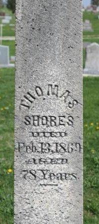 SHORES, THOMAS - Des Moines County, Iowa | THOMAS SHORES
