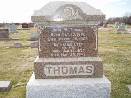 THOMAS, JOHN W - Des Moines County, Iowa | JOHN W THOMAS