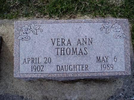 THOMAS, VERA ANN - Des Moines County, Iowa | VERA ANN THOMAS