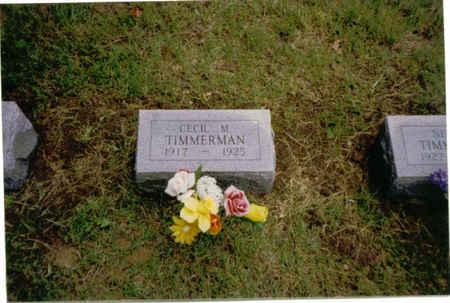 TIMMERMAN, CECIL MARIE - Des Moines County, Iowa | CECIL MARIE TIMMERMAN