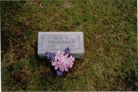TIMMERMAN, NETA EDITH - Des Moines County, Iowa   NETA EDITH TIMMERMAN