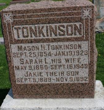 PARR TONKINSON, SARAH L. - Des Moines County, Iowa | SARAH L. PARR TONKINSON