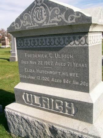 ULRICH, FREDERICK C. - Des Moines County, Iowa | FREDERICK C. ULRICH