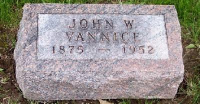 VANNICE, JOHN W. - Des Moines County, Iowa   JOHN W. VANNICE