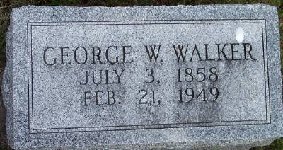 WALKER, GEORGE WASHINGTON - Des Moines County, Iowa   GEORGE WASHINGTON WALKER