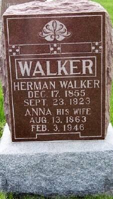 BARNHARDT WALKER, ANNA - Des Moines County, Iowa | ANNA BARNHARDT WALKER