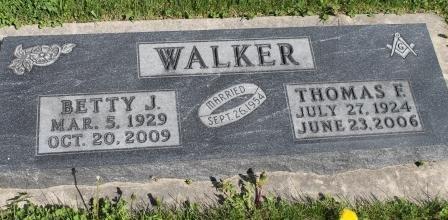 WALKER, THOMAS FOSTER - Des Moines County, Iowa   THOMAS FOSTER WALKER