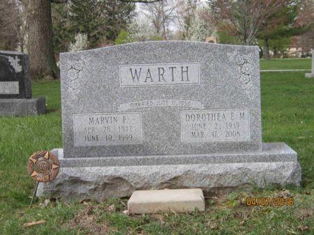 WARTH, DOROTHEA ELIZABETH MARIE - Des Moines County, Iowa | DOROTHEA ELIZABETH MARIE WARTH