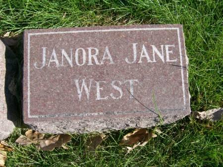 WEST, JANORA JANE - Des Moines County, Iowa | JANORA JANE WEST