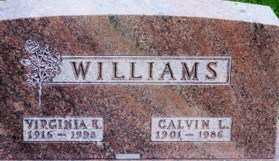 WILLIAMS, CALVIN L. - Des Moines County, Iowa   CALVIN L. WILLIAMS