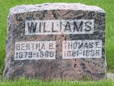 WILLIAMS, BERTHA B. - Des Moines County, Iowa | BERTHA B. WILLIAMS