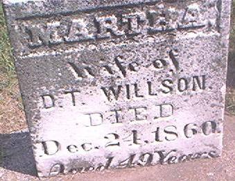 WILLSON, MARTHA - Des Moines County, Iowa   MARTHA WILLSON