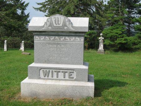HULTZMAN WITTE, SOPHIA WILHELMINA - Des Moines County, Iowa | SOPHIA WILHELMINA HULTZMAN WITTE