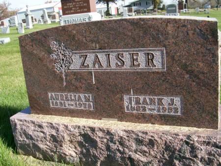 ZAISER, AURELIA M. - Des Moines County, Iowa | AURELIA M. ZAISER