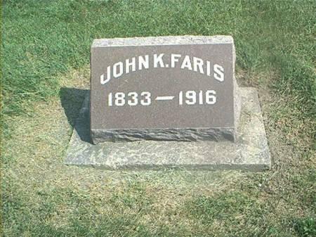 FARIS, JOHN K - Des Moines County, Iowa | JOHN K FARIS