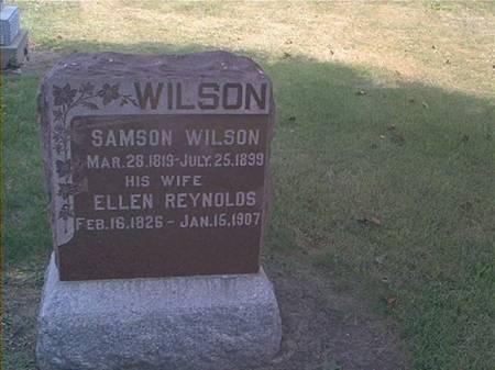 WILSON, SAMSON & ELLEN REYNOLDS - Des Moines County, Iowa | SAMSON & ELLEN REYNOLDS WILSON