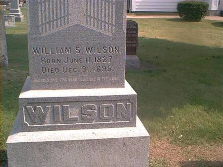 WILSON, WILLIAM S - Des Moines County, Iowa | WILLIAM S WILSON