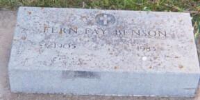 BENSON, FERN - Dickinson County, Iowa   FERN BENSON