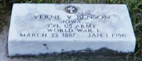 BENSON, VERNE V. - Dickinson County, Iowa | VERNE V. BENSON