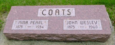 COATS, NINA PEARL - Dickinson County, Iowa | NINA PEARL COATS
