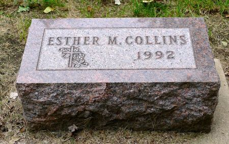 COLLINS, ESTHER MARY - Dickinson County, Iowa | ESTHER MARY COLLINS
