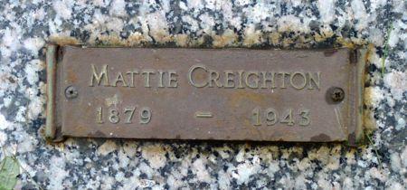 CREIGHTON, MATTIE - Dickinson County, Iowa | MATTIE CREIGHTON