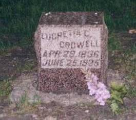 CROWELL, LUCRETIA COOK - Dickinson County, Iowa | LUCRETIA COOK CROWELL