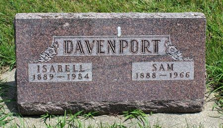 DAVENPORT, ISABELL - Dickinson County, Iowa | ISABELL DAVENPORT