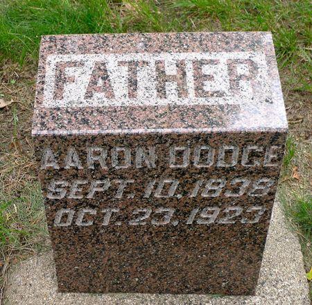 DODGE, AARON - Dickinson County, Iowa   AARON DODGE