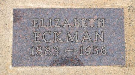 ECKMAN, ELIZABETH M. - Dickinson County, Iowa | ELIZABETH M. ECKMAN