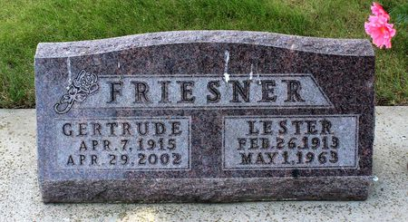 FRIESNER, LESTER - Dickinson County, Iowa | LESTER FRIESNER