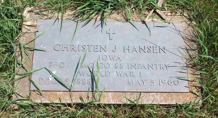 HANSEN, CHRISTEN J. - Dickinson County, Iowa | CHRISTEN J. HANSEN