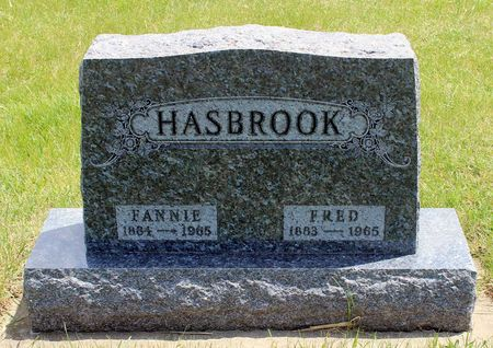 HASBROOK, FANNIE - Dickinson County, Iowa | FANNIE HASBROOK