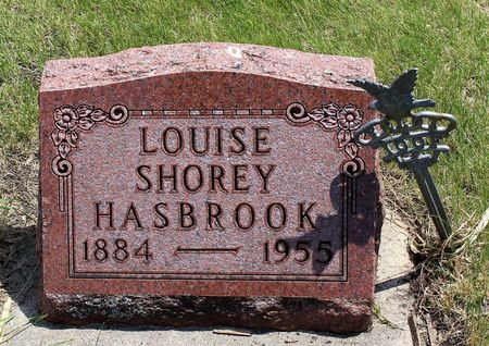 SHOREY HASBROOK, LOUISE - Dickinson County, Iowa | LOUISE SHOREY HASBROOK