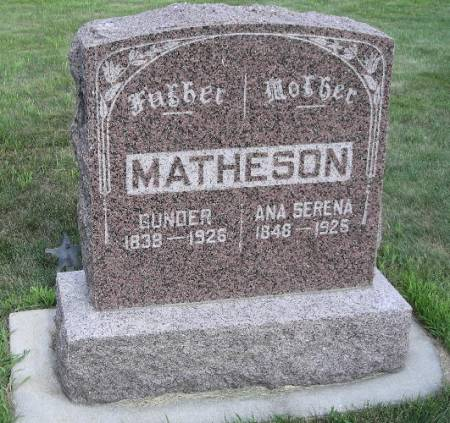 MATHESON, GUNDER - Dickinson County, Iowa | GUNDER MATHESON