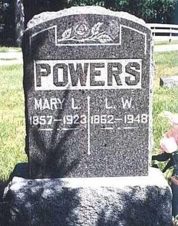 POWERS, MARY LOUISE - Dickinson County, Iowa | MARY LOUISE POWERS