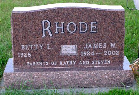 RHODE, JAMES WILLIAM - Dickinson County, Iowa   JAMES WILLIAM RHODE