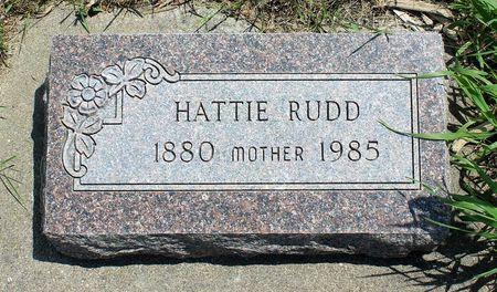 RUDD, HATTIE - Dickinson County, Iowa | HATTIE RUDD