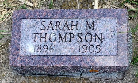 THOMPSON, SARAH M. - Dickinson County, Iowa | SARAH M. THOMPSON