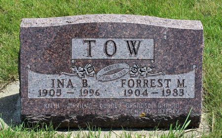 TOW, INA B. - Dickinson County, Iowa | INA B. TOW