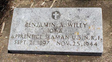 WILEY, BENJAMIN ARTHUR - Dickinson County, Iowa | BENJAMIN ARTHUR WILEY