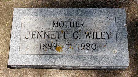 WILEY, JENNETT G. - Dickinson County, Iowa   JENNETT G. WILEY