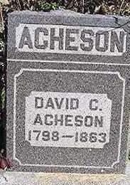 ACHESON, DAVID C. - Dubuque County, Iowa   DAVID C. ACHESON